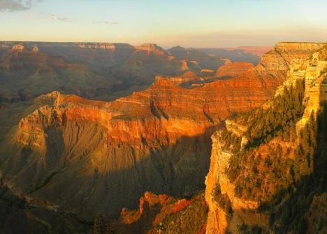 Grand canyon ao alvorecer.