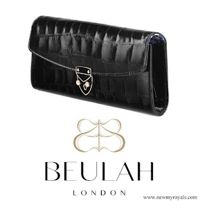Kate Middleton carried Beulah London Aspinal Blue Heart Clutch