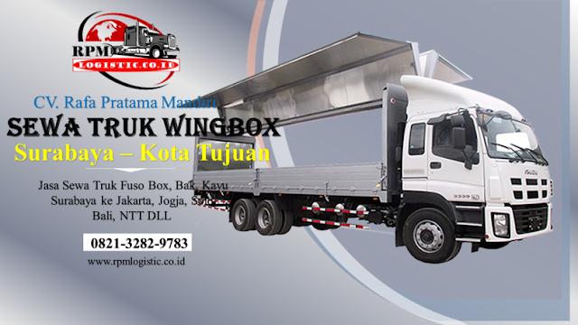 Jasa Sewa Truk Wing Box Surabaya Sidoarjo Gresik