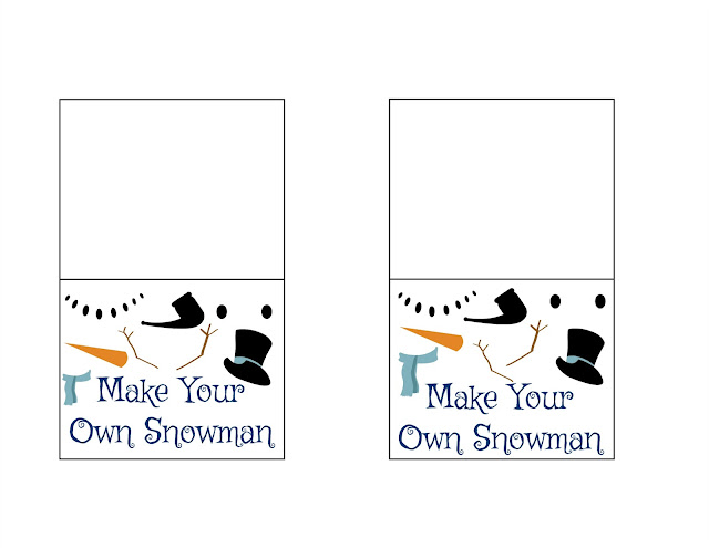 Make Your Own Snowman - Treat Bag, make your own playdoh snowmen, christmas classroom treats, build your own snowman, craft for kids, build your own snowman treat bag, DIY snowman kit,