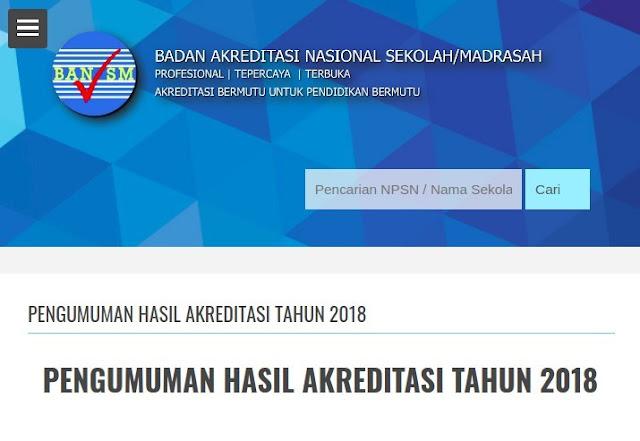 Hasil Visitasi Akreditasi SMK Tahap 2 Tahun 2018