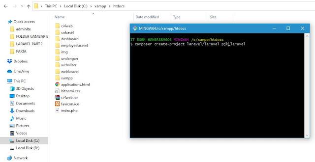 Cara Mudah Instalasi Laravel 8 Menggunakan Composer dan Git