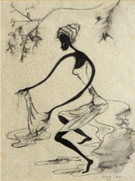 Negrita lavando, 1956