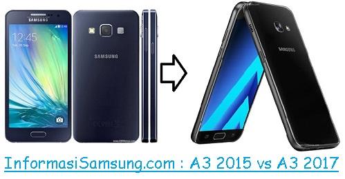 Harga dan Spesifikasi Samsung Galaxy A3 (2015) vs A3 (2017)