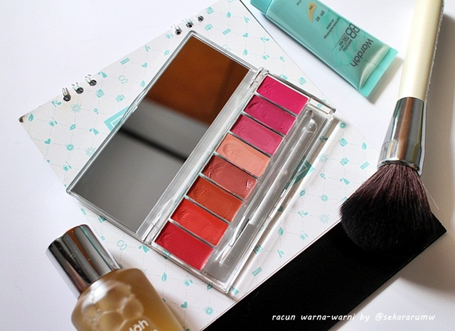 [Review] Wardah Lip Palette Pinky Peach - Racun Warna-Warni