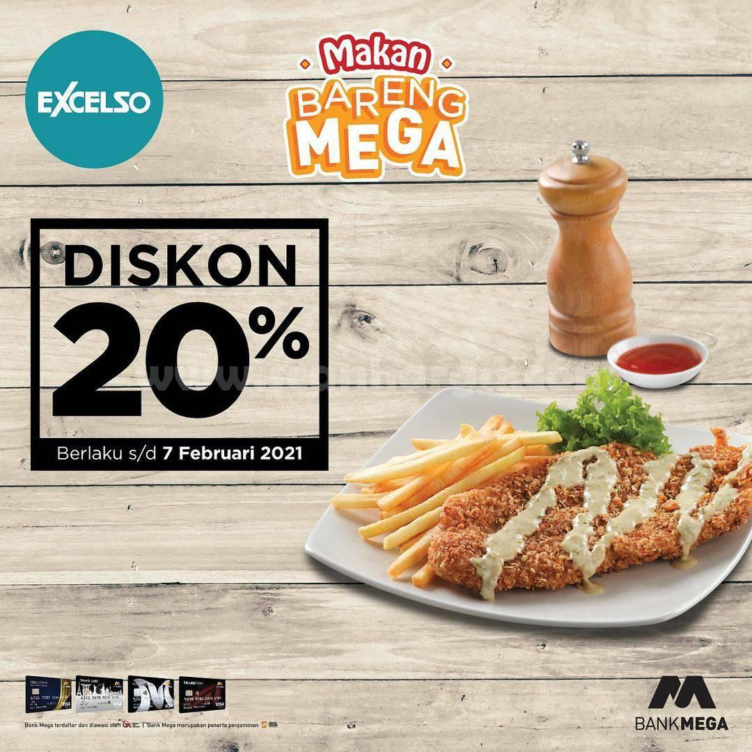 Excelso Promo Diskon 20% dengan Kartu Kredit Bank Mega