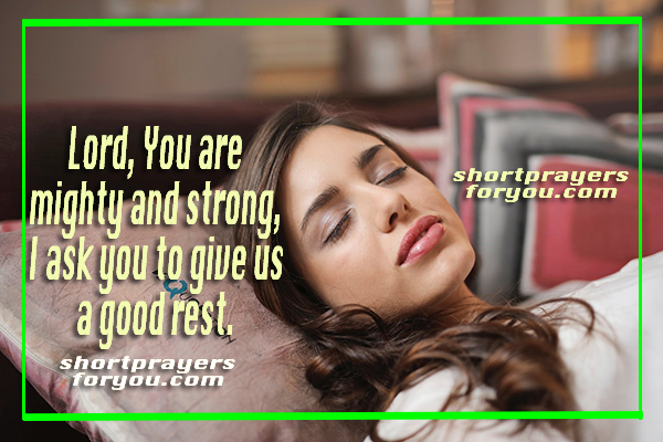 christian short prayer before going to bed, good night prayer, bedtime prayer with image by Mery Bracho