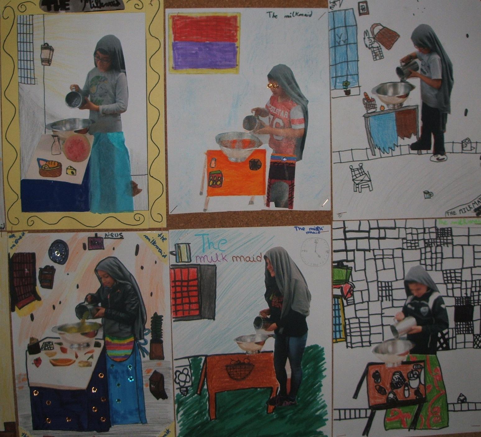 Arte en la escuela la lechera de vermeer - La lechera de vermeer ...