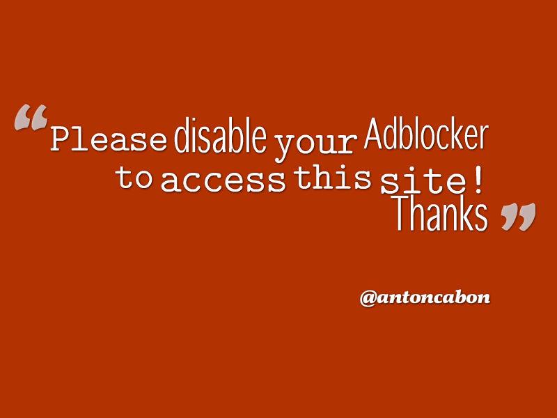 Cara Memasang Anti AdBlock Plus Di Blog