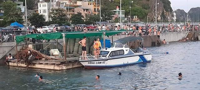 Xuồng tuần tra của cảnh sát đường thủy đâm tử vong người tắm biển ở Hạ Long