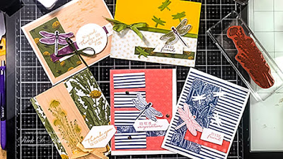 Find out how to use one card sketch to make five different cards using the Dragonfly Garden Bundle.  Click to learn more