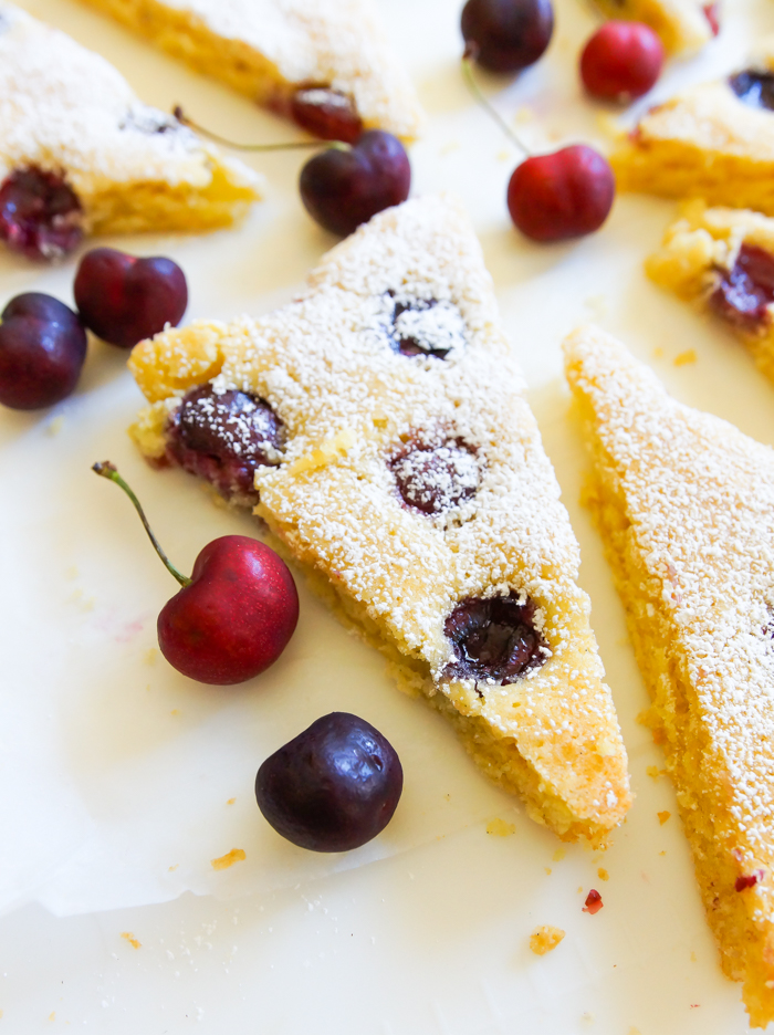 Cherry Sheet Cake ... a quick and easy weeknight cake, studded with cherries.
