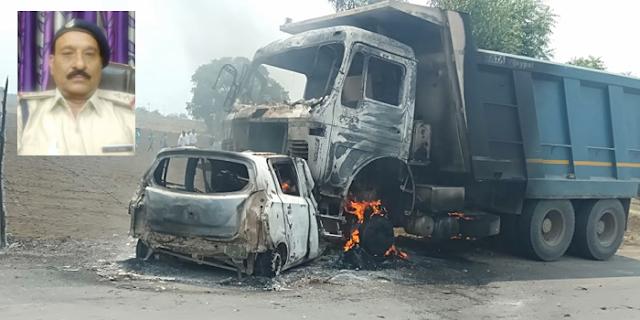 एक्सीडेंट: RAJGARH में थानेदार जिंदा जल गए, SATNA में 4 मौतें   MP NEWS
