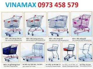 Bán xe đẩy hàng cho khách mua hàng siêu thị