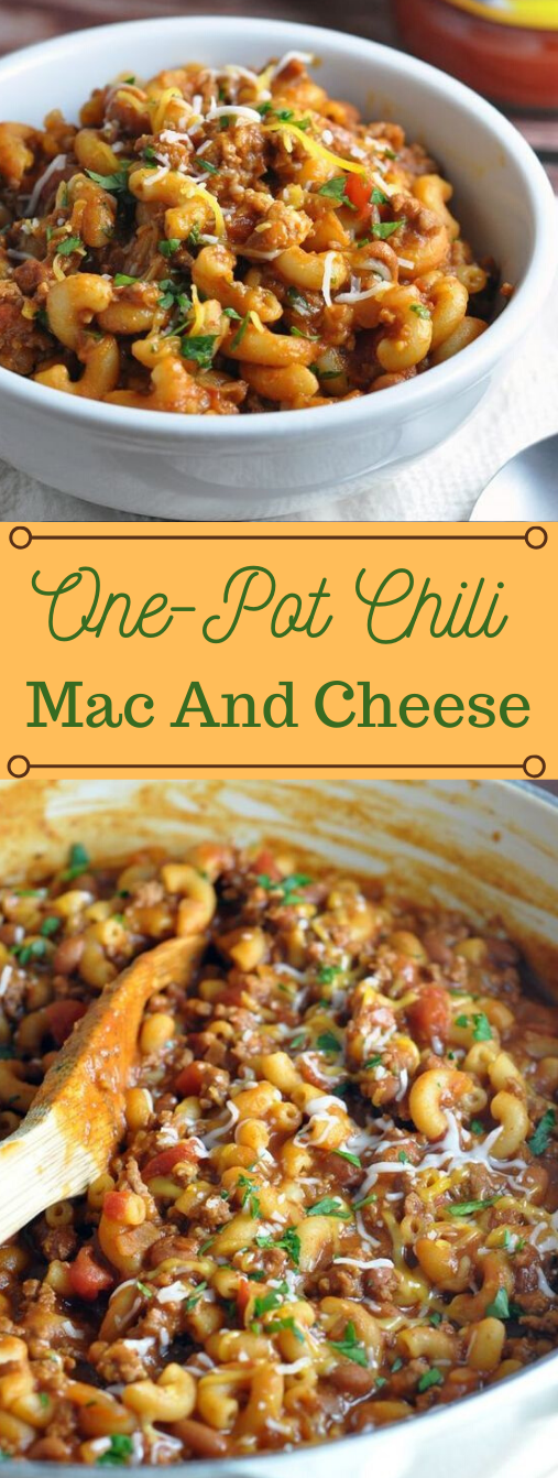 ONE POT CHILI MAC AND CHEESE #cheese #chili #dinner #healthylunch #recipes