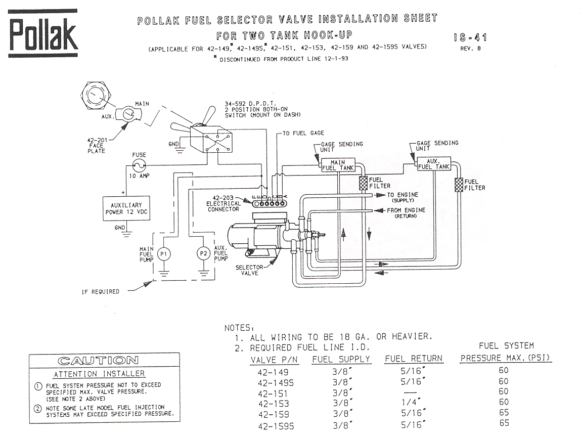 Pollak 6 Port Fuel Selector Valve Wiring Diagram Excel Data Flow Ecet 209