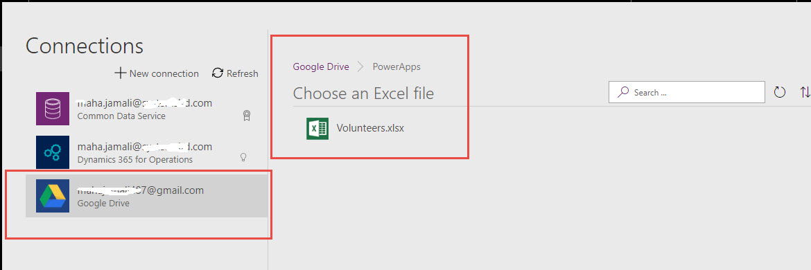 Create a canvas app from excel in powerApps - Finance and Operations