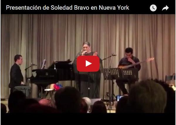 Soledad Bravo contó su atraco en el concierto de Nueva York