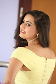 Shipra gaur in V Neck short Yellow Dress ~  040.JPG