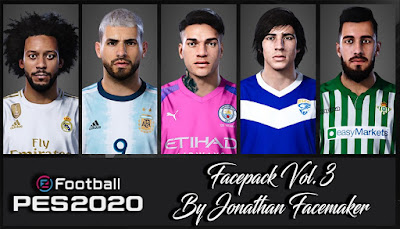 PES 2020 Facepack Vol 3 by Jonathan Facemaker