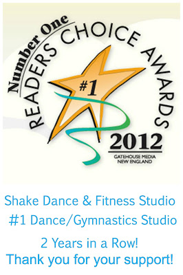 Shake Fitness, Shake Dance Fitness Studio, Fitness Northborough MA, Readers Choice Award Winners 2012