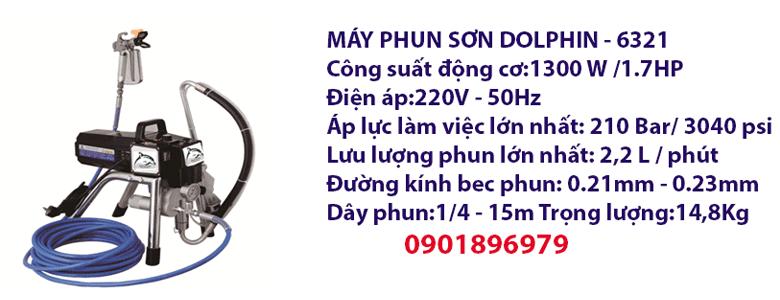 MÁY PHUN SƠN DOLPHIN - 6321