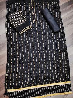 Sitara Work Muslin Cotton Dress Material Collection