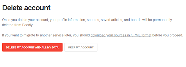 Feedly - How To Delete Your Feedly Account Now