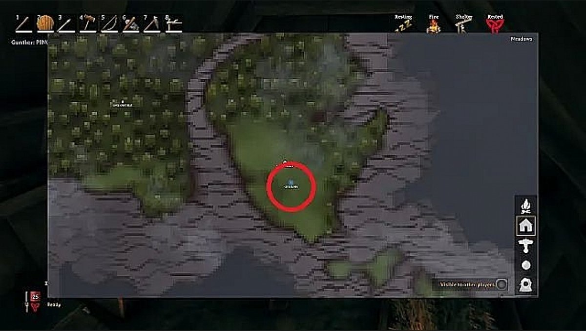How to put a blue dot (ping) on the map