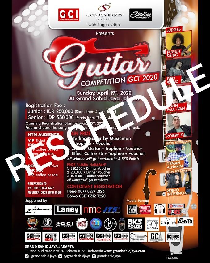 Reschedule Guitar Competition GCI pada tanggal 21 Juni 2020