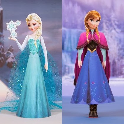 Disneys Frozen Papercraft Elsa And Anna
