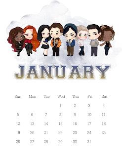 Riverdale: Calendario 2020 para Imprimir Gratis.