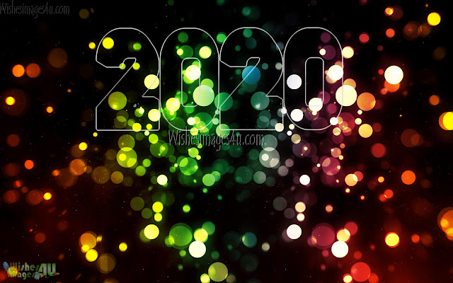 Happy New Year 2020 Full HD Desktop Sparkling Background Pics