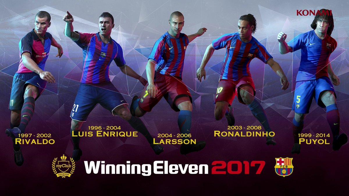 25db9223f5c12 A Konami divulgou um trailer das lendas do Barcelona para PES 2017