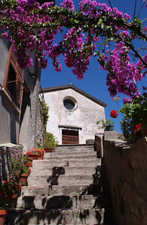 The stairway to the church of San Rocco in Limone sul Garda