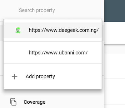 add property on google webmaster