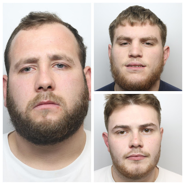 Liam Rayner, Frankie Coleman and Brodie Nolan jailed over roles in Bradford shooting that ended with car being dumped in Bierley