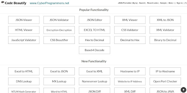 Code Beautify JS online tools