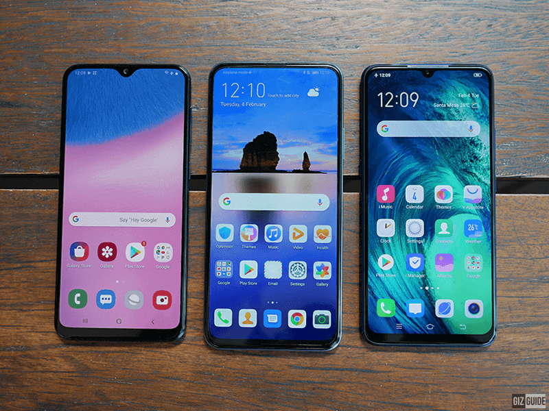 Samsung Galaxy A30s vs Huawei Y9s vs Vivo S1 - Candidates under PHP 14K