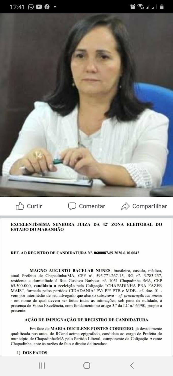 MAGNO PEDE  IMPUGNAÇÃO  DE BELEZINHA