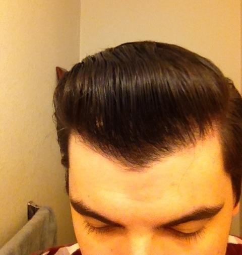 Hasil Aplikasi Pomada Dax Hair Shaper