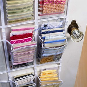 For fabric stashes that are stored in tubs.. here is a pic of a PVC  shelving unit. The tutorial and directions for making the PVC shelving unit  can be found ...