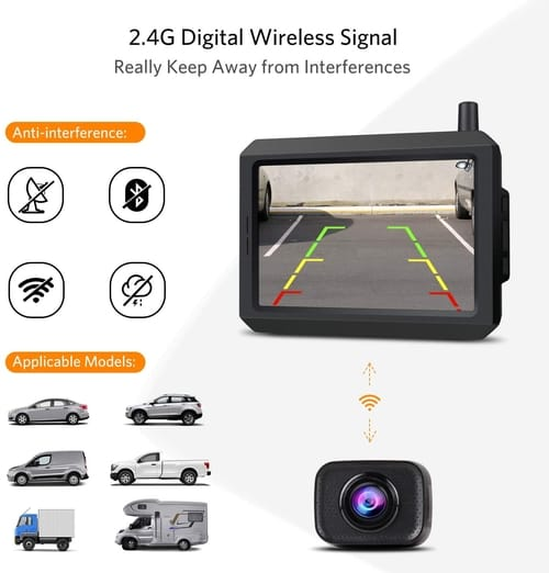 BOSCAM K7 Pro HD Wireless Car Backup Camera