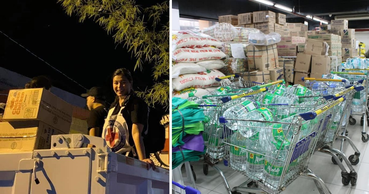 Angel Locsin goes viral for donating, distributing relief goods to earthquake victims in Mindanao