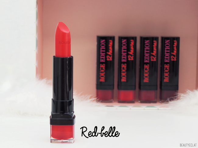 revue avis test bourjois red in the city rouge edition 12 heures rouge edition velvet swatch swatches red belle
