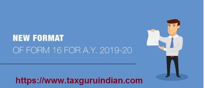 New Format of Form 16 for A.Y. 2019-20 With Automated Income Tax Master of Form 16 Part B for F.Y. 2019-20