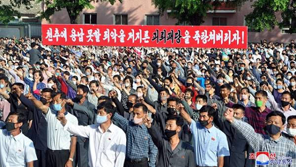 Workers and trade union members blast south side's anti-DPRK acts, June 7, 2019, Kaesong City