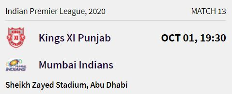 Mumbai Indians match 4 ipl 2020