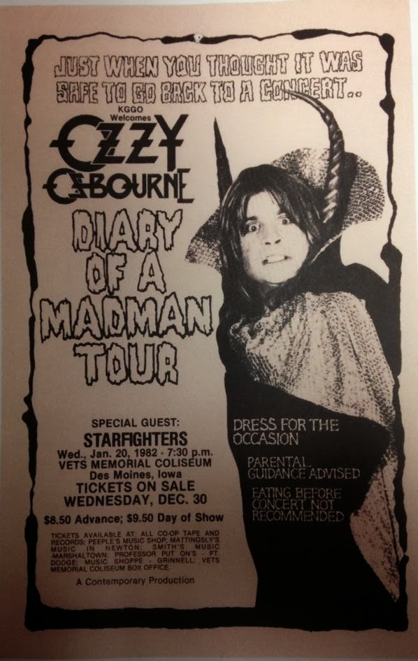 Ozzy Osbourne/randy Rhoads Guitar Mag Posters Ticket Stub News Paper Article Latest Fashion Storage & Media Accessories