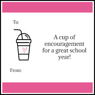 Cup of Encouragement printable tag @michellepaigeblogs.com